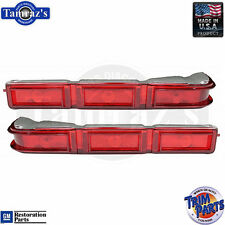 1966 Impala Tail Light Lamp Lens Taillight  -  Made in USA - PAIR
