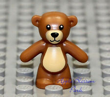 NEW Lego Minifig Light BROWN TEDDY BEAR - Boy/Girl Friends Minifigure Toy Animal