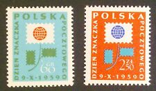 POLAND STAMPS MNH 1Fi981-82 Sc873-74 Mi1125-26 - Day of the stamp, 1959, clean