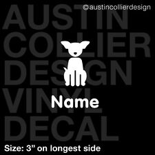 "3"" PERSONALIZED FAMILY CHIHUAHUA DOG vinyl decal car window sticker - custom"