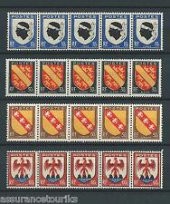 ARMOIRIES - 1946 YT 755 à 758 bandes - TIMBRES NEUFS** LUXE