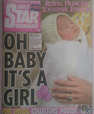 ROYAL BABY GEORGE AND CHARLOTTE.WILLIAM & KATE.STAR SOUVENIR NEWSPAPER.3-5-2015