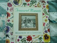 "**NEW**TREASURED MOMENTS~MEMORIES OF A LIFETIME PHOTO ALBUM 12"" X 12"""