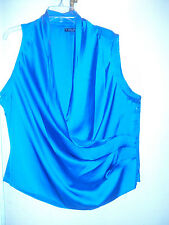 NWT BABY PHAT SZ 2X FAUX WRAP SLEEVELESS BLOUSE TOP PLUS SIZE