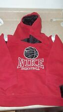 z- CLOTHES CHILDS HOODIE SZ 6 RED BLACK NAME BRAND BASKETBALL SWEATSHIRT SO NICE
