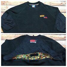 90s VTG COOGI SPORT Fleece PULLOVER 2XL Jacket Sweater Print ACTIVE Polo 3D