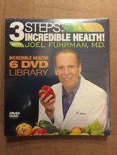 3 Steps to Incredible Health! with Joel Fuhrman, MD- 6  DVD set. NEW and sealed