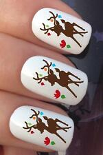 CHRISTMAS NAIL ART SET #764 REINDEER DECORATIONS WATER TRANSFERS DECALS STICKERS