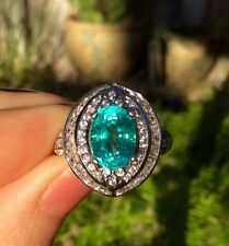 Natural Apatite earth mined gem 3.2 ct top luster Sterling Silver ring size 5