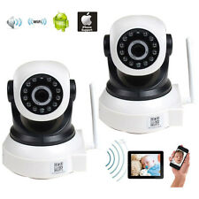 2x IP Wireless Baby Monitor Video Audio WiFi PC Remote View Security Camera