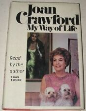 My Way of Life Read Aloud by Joan Crawford 1 mp3 Audio CD  5 hours