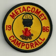 BSA METACOMET District 1986 Camporall Patch V4