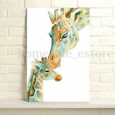 HD Canvas Painting Giraffe Animal Wall Art Picture Prints Maternal Love Unframed