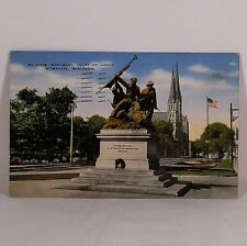 Vintage Soldiers' Monument, Court of Honor, Milwaukee, WI Post Card 1944 NR