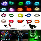 1-5M LED Light Glow EL Wire String Strip Rope Car Dance Party + 3/12V Controller