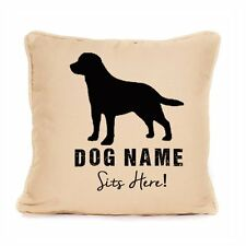 Personalised Cushion Labrador Sits Here Large Pet Dog Lover Gift Present Idea
