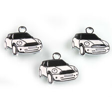 20pcs Black&White Enamel Alloy Car Shape Pendants Fit Jewelry Chain Necklaces L