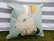 Rabbit Cushion Cover, Cotton Canvas, Traditional, Victorian, Vintage, Designer