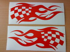 fun race flag tribal flames vinyl graphics decals car side sticker vw vauxhall