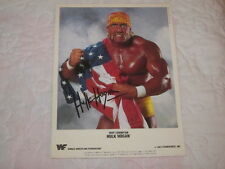 1991 Hulk Hogan Promo Photo American Flag WWF Champion Titan Sports