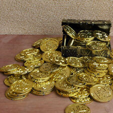 50pcs Plastic Pirate Gold Play Toys Coin Birthday Party Favors Money Coin Hot