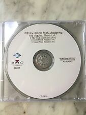 "BRITNEY SPEARS Feat. MADONNA ""ME AGAINST THE MUSIC""  AUSTRALIAN 3-TRACK PROMO CD"