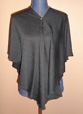 RENO Rose Pirose Fashion Multi-Way Cozy Black Shawl Poncho Scarf Wrap NWOT