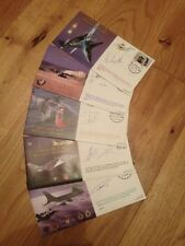 50th Anniversary Belgian Air Force pilot signed cover SET of 5  FRENCH version