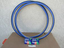 [2] NEW 27'' X 1-1/4'' BLACK/ BLUE BICYCLE TIRES  & [2] TUBES FOR YOUR ROAD BIKE