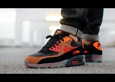 "Nike Air Max 90 ICE QS ""Halloween"" Mens Sz 10 717942-006 BLACK/TEAM RED/COGNAC"