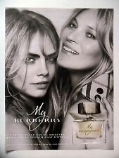 PUBLICITE-ADVERTISING :  BURBERRY  My (02) 2015 Kate Moss,Cara Delevingne,Parfum