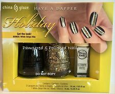 CHINA GLAZE *HAVE A DAPPER HOLIDAY* NAIL LACQUER GIFT SET~2 X 14ML~NEW 2015~BNIB