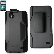 ZTE Grand X Max / Max+ Heavy Duty Drop Proof Holster Combo Case with Belt Clip