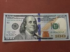 REPEATER SERIAL NUMBER FANCY 38343834  $100 ONE HUNDRED DOLLAR BILL NOTE