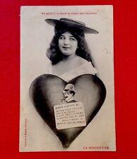 CPA. La MIDINETTE. 1904. Ce qu'il y a dans le cœur des femmes. Bergeret.