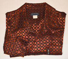 COPPER Metallic shirt steampunk lounge club disco Shiny elvis Satin L