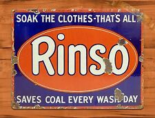 "TIN-UPS TIN SIGN ""Rinso Soap"" Vintage Kitchen Rustic Wall Decor"