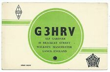 MANCHESTER - WALKDEN, 1954 QSL Radio Transmission Confirmation Card  G3HRV