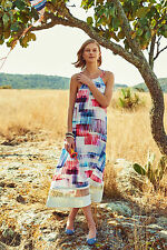 NWT SZ L ANTHROPOLOGIE SONORA DRESS BY SB SACHIN & BABI white REV'R FAVORITE!