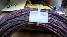 100ft coil Western Electric 24g cloth covered pairBLACK-RED & BLACK