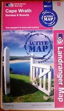 Cape Wrath, Durness & Scourie  - OS Landranger ACTIVE Map 9(New, 2008)