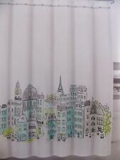 TAHARI~PARIS IN COLOR FRENCH SCENCE EIFFLE TOWER~FABRIC SHOWER CURTAIN~NEW