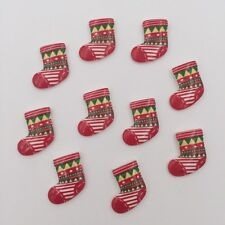 Hot 10pcs Resin hand painting Christmas shoes Flatback stone/Children scrapbooks