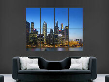 SINGAPORE SKYLINE ASIA NIGHTSKY  ART WALL LARGE IMAGE GIANT POSTER