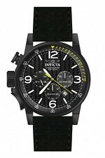 Invicta I-Force Chronograph Black Dial Black Leather Mens Watch 20140