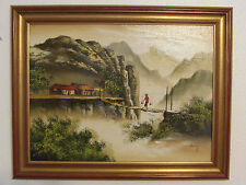 Original Oil Painting Picture On Board, Signed By C. Reny