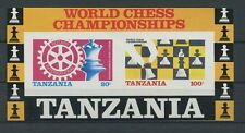 Tanzania SCACCHI CHESS blocco ungezähnt Imperf!!! non nel Michel! not listed! 7425