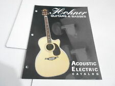 VINTAGE MUSICAL INSTRUMENT CATALOG #10682 - HOHNER ACOUSTIC ELECTRIC BASS GUITAR