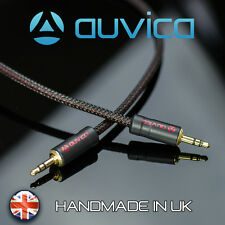 Auvica Hi-Fi Screened 1m AUX Cable Red Stereo 3.5mm to 3,5mm mini jack car mp3
