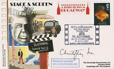 Christopher Lee   Autograph , Original Hand Signed Blackmail FDC